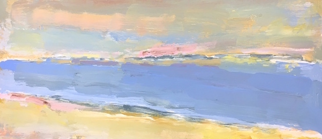 Absorbing North Beach painting from Brenda J. Clark Gallery
