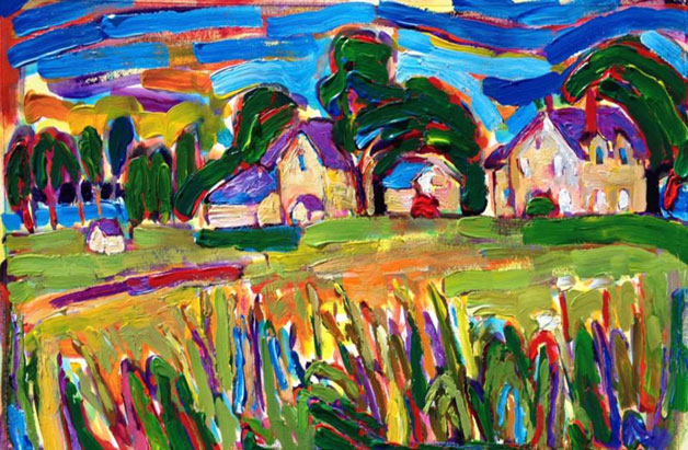 Carsten Burfiend Farm painting from Brenda J. Clark Gallery