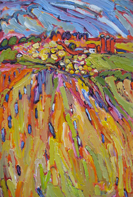May Blossoms on Jelinek painting from Brenda J. Clark Gallery
