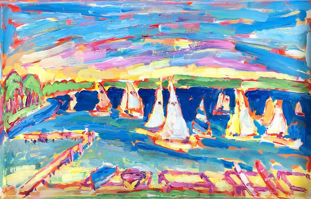 LYC Morning Sail painting from Brenda J. Clark Gallery