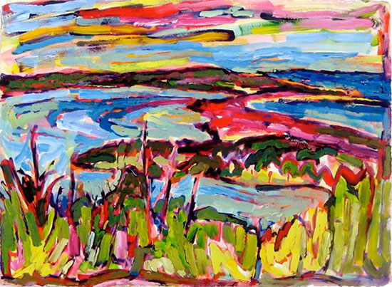 Miller Hill on Thursday painting from Brenda J. Clark Gallery