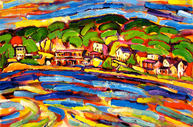 Omena 'cross the Bay painting from Brenda J. Clark Gallery