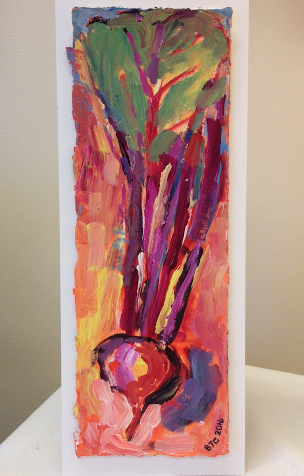 Pulled Beet painting from Brenda J. Clark Gallery