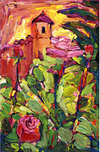 Roses of Lourmarin, painting from Brenda J. Clark Gallery