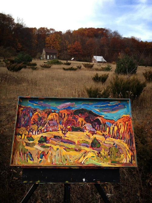 Scmidt Farm painting from Brenda J. Clark Gallery