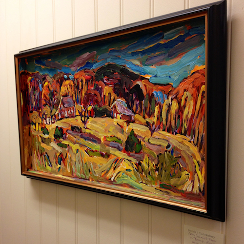 Scmidt Farm framed painting from Brenda J. Clark Gallery