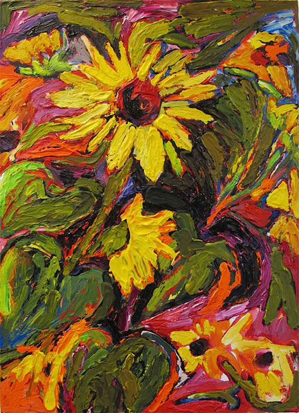 Sunflower in Fall painting from Brenda J. Clark Gallery