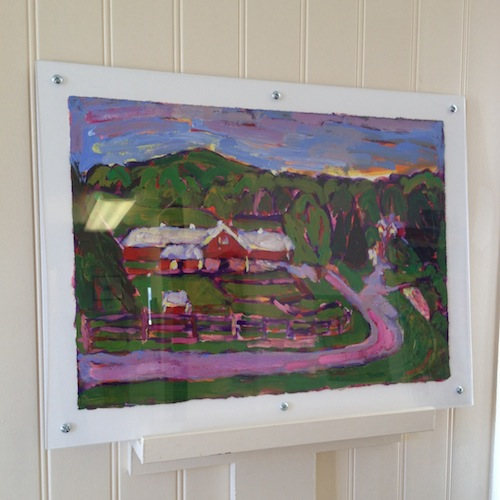 Up On Black Star Farms framed painting from Brenda J. Clark Gallery
