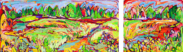 Winding Crystal Marsh painting from Brenda J. Clark Gallery